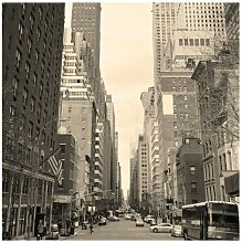 Seidenmatte Fototapete New York Post Card
