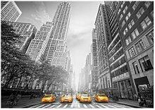 Seidenmatte Fototapete New York - Yellow Taxis