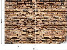 Seidenmatte Fototapete Stein 2 7 3,68 m x 254 cm