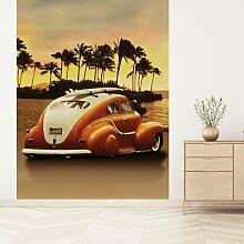 Seidenmatte Fototapete VW Beetle bei