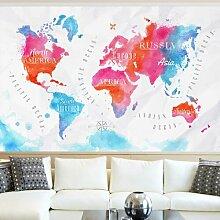 Seidenmatte Tapete Weltkarte
