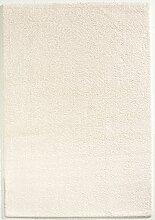 Seidenweicher Microfaser Hochflor Shaggy Teppich in 5 Farben und 4 Größen (120 x 170 cm, weiß)