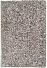 Seidenweicher Microfaser Hochflor Shaggy Teppich in 5 Farben und 4 Größen (140 x 200 cm, silber)