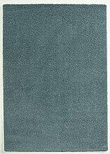 Seidenweicher Microfaser Hochflor Shaggy Teppich in 5 Farben und 4 Größen (160 x 230 cm, blau)