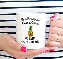 Seien Sie ein Ananas-Becher Motivations-Becher