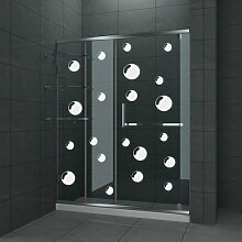 Seifenblasen-Aufkleber für Duschkabinen, Duschwände und Fliesen, 21 Stück