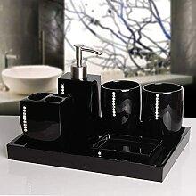 Seifenspender Badezimmerzubehör Set-Resin Strass