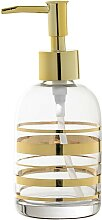 Seifenspender GOLD STRIPES H. 17cm D. 7cm aus Glas