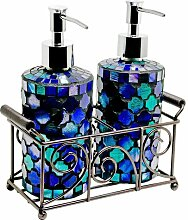 Seifenspender-Set Home Essence Farbe: Blau