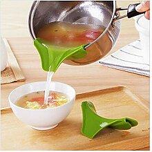 Seiher 1PC Küche Silikon-Anti-Spill-Ablaufwannen