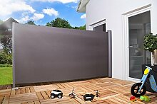 Seitenmarkise Sichtschutz Sonnenschutz Windschutz 200 x 300 cm anthrazit oder beige