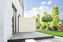Seitenmarkise START Sichtschutz Sonnenschutz in verschiedenen Größen anthrazit oder cremeweiß