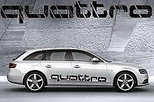 Seitenstreifen Aufkleber passend für Audi Quattro