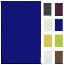 Seitenzug-Rollo Ohne Bohren Easy-Fix Klemmfix (75 x 150 cm, dunkelblau)