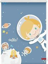 Seitenzugrollo Klemmfix Digital Astronaut,