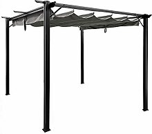 Sekey Garten Pavillon Pergola 3x3m Aluminum,