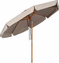 Sekey - Sonnenschirm 300 cm Holz-Sonnenschirm