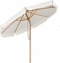 Sekey Sonnescherm 300 cm Holz-Sonnenschirm