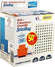 Seko Box Sekobag X2 Luftentfeuchter mit 2 Filtern, 150 g, Weiß