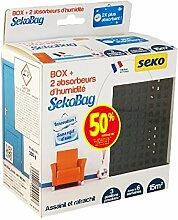 Seko Sekobag Luftentfeuchter, 2 Stück, 150g, schwarz, 201091580100
