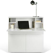Sekretär - Workstation Focus - Weiß