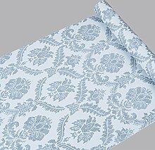 Selbstklebend Damast Tapete Kontakt Papier Regalen für Küche Schubladen Schränke Regale Theken Wand Aufkleber (45x 998,2cm)
