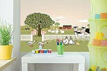 Selbstklebende Fototapete - Kinderbild - Bauernhof