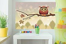 Selbstklebende Fototapete - Kinderbild - Uhu