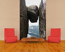 Selbstklebende Fototapete - Kjeragbolten Fjord