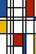 Selbstklebende Fototapete - Mondrian Retro -