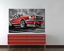 Selbstklebende Fototapete - Mustang Graphic -