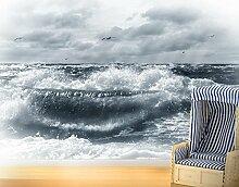 Selbstklebende Fototapete No.YK6 Lebendige Nordsee