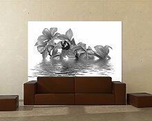 selbstklebende Fototapete - orange Orchidee -