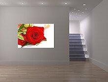 Selbstklebende Fototapete - Rose - 100x65 cm -
