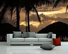 Selbstklebende Fototapete - Sonnenuntergang II -