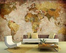 selbstklebende Fototapete - Weltkarte - retro -