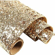 Selbstklebende Glitzer-Tapete, Champagner-Gold,