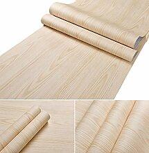 Selbstklebende Kunstleder Light Nature Wood Grain Kontakt Papier Regal Schublade Liner für Küche Schränke Regalen Schublade Tisch Kunst und Handwerk Aufkleber 61x 500,4cm