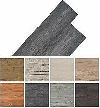 Selbstklebende PVC-Fußbodenplatten, 36 Stück,