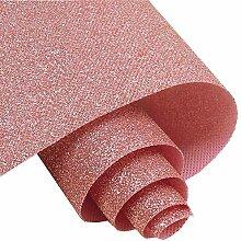 Selbstklebende rosa feine Glitzer-Tapete, zum