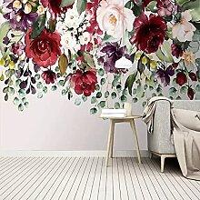 Selbstklebende Tapete 3D Pflanze Blume Wandbild