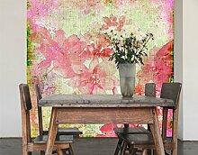 Selbstklebende Tapete Forgotten Beauty II Tapete Blume Blüte Rosa Pflanze, Größe:380cm x 360cm