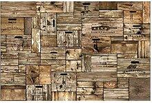 Selbstklebende Tapete - Fototapete Holz Vintage
