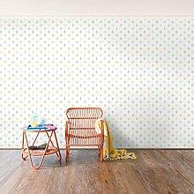 Selbstklebende Tapete - Fototapete - Pastell Dreiecke, Wandtapete, Wandbild, Foto, Fotografie, Größe: 270cm x 432cm