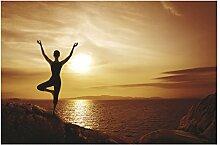 Selbstklebende Tapete - Fototapete - Yoga,