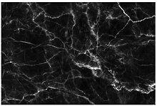 Selbstklebende Tapete Marmoroptik - Nero Carrara -