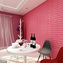 Selbstklebende tapete tapete, 3d dreidimensionale wohnzimmer schlafzimmer wand rock backstein tapete Wand wasserdicht selbstklebend tapete-F 70x77cm(28x30inch)