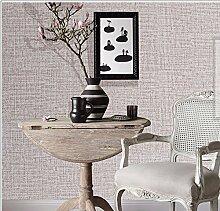 Selbstklebende Tapete weben Leinen PVC wasserdichte Wandaufkleber Schlafzimmer Wohnzimmer Tapete 60 * 500cm, khaki