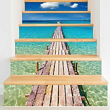 Selbstklebende Treppenstufen 3D Gedruckte Treppe