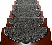 Selbstklebende Treppenstufenmatten Halbkreis 24x65